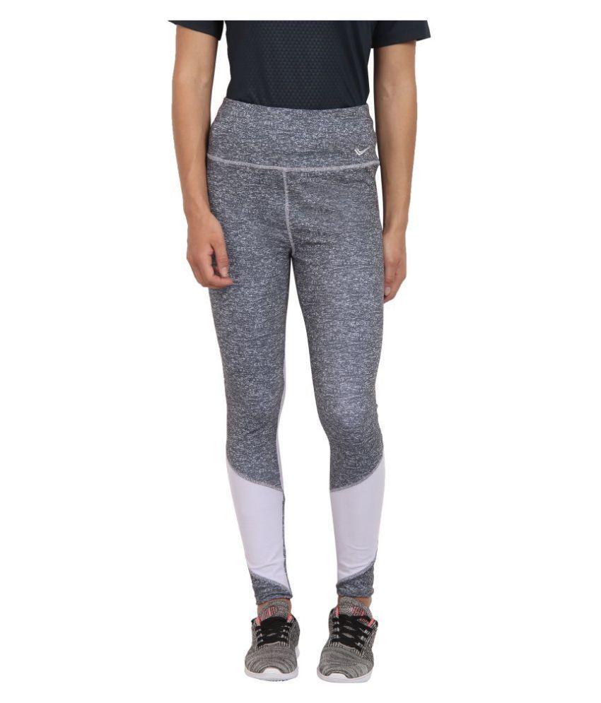 YUUKI Grey Polyester Solid Tights
