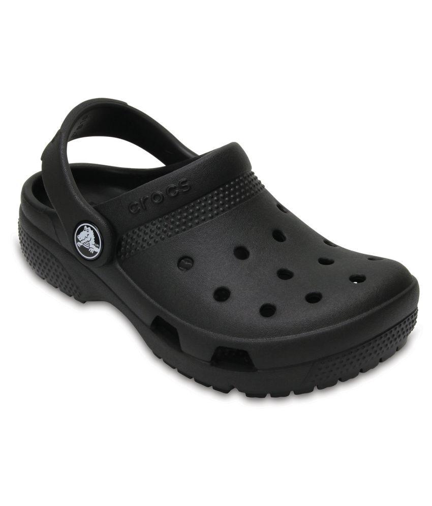 Crocs Coast Black Kids Clog