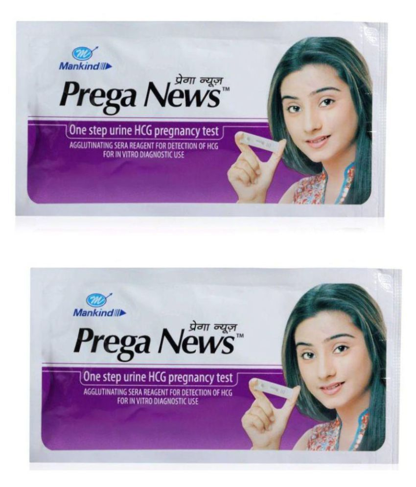 Prega News Mankind (Pack of 2) Pegnancy Testing Kit Hemoglobin