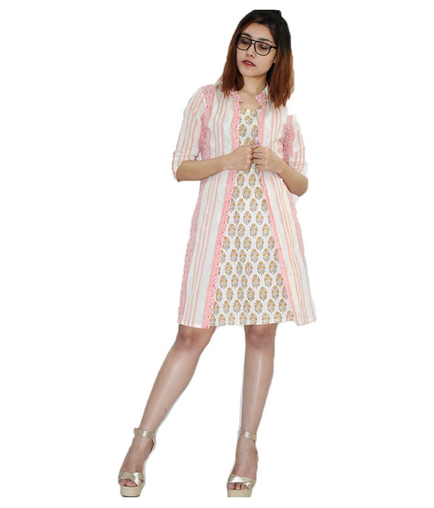Rajneeral Babutta Group Cotton Yellow A- line Dress