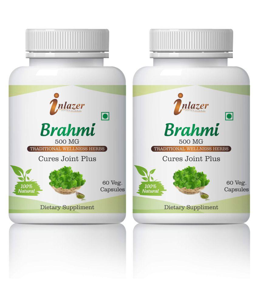Inlazer Brahmi Helps In Skin , Hair & Memory Capsule 500 mg Pack Of 2