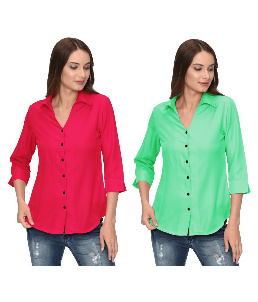Thisbe Multi Color Polyester Shirt