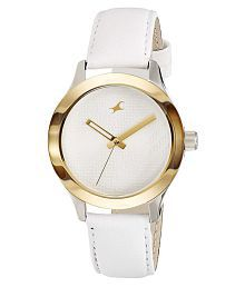 Fastrack Leather Round Womens Watch