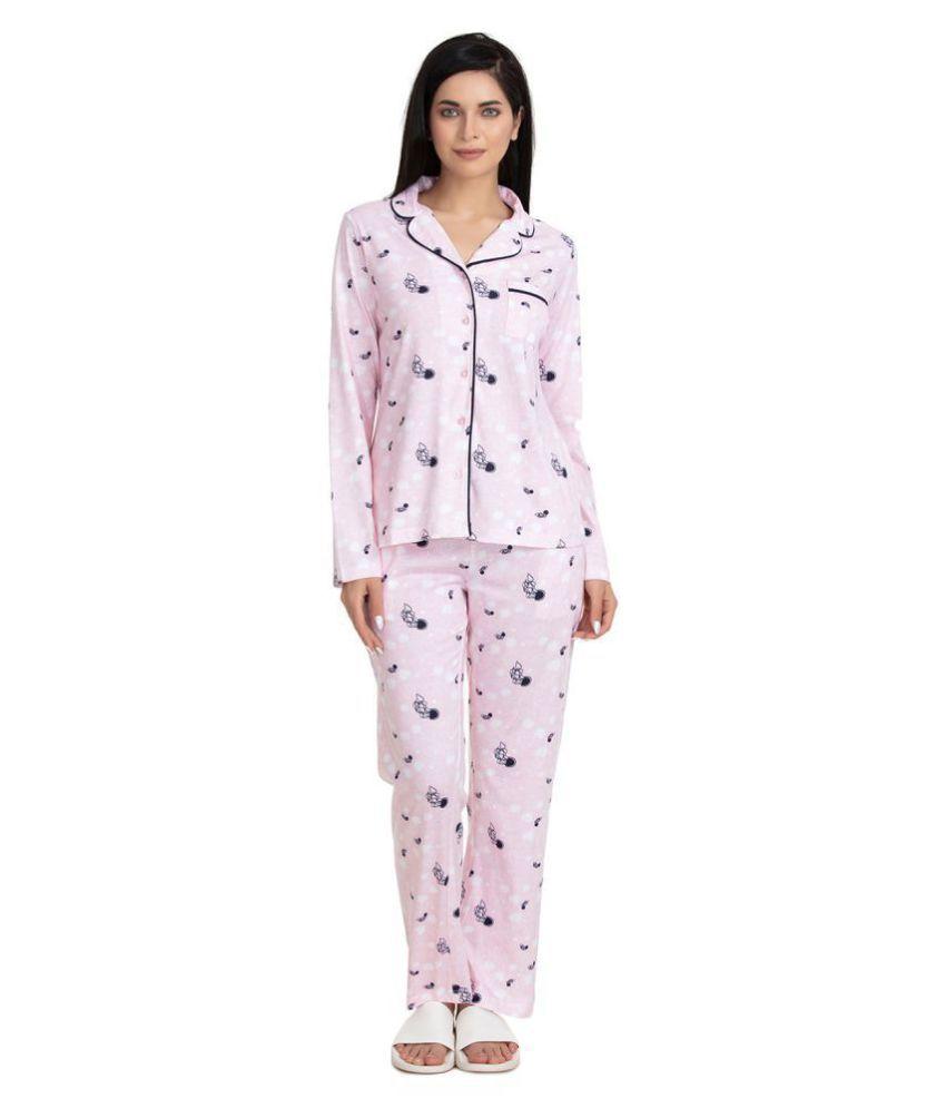 Zivame Cotton Nightsuit Sets - Multi Color