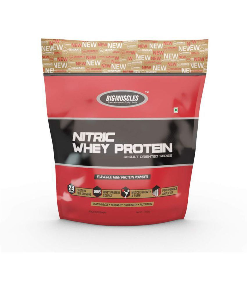 BIGMUSCLES NUTRITION Nitric Whey Protein Unflavoured 4500 gm