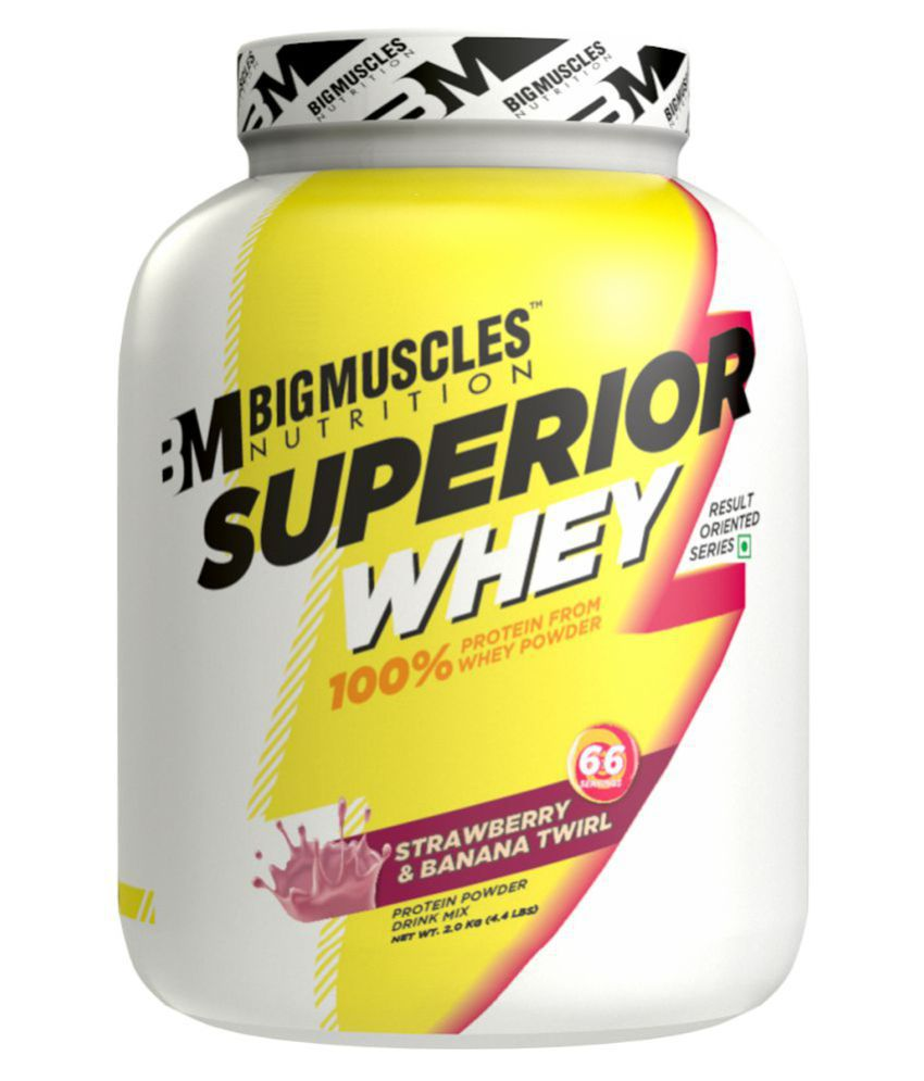 BIGMUSCLES NUTRITION Superior Whey Protein Strawberry Banana Twirl 2 kg