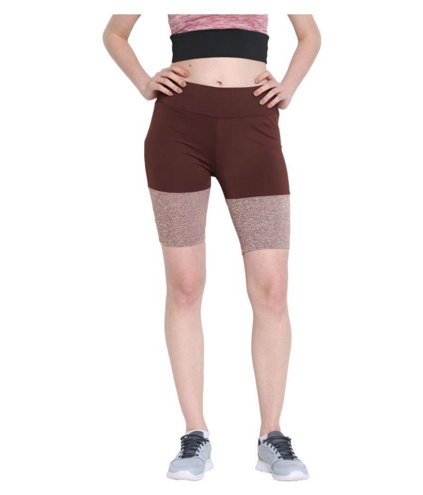 CHKOKKO Women's Polyester Stretchable Yoga Shorts Gym Wear Women/Tight Women/Yoga Dress