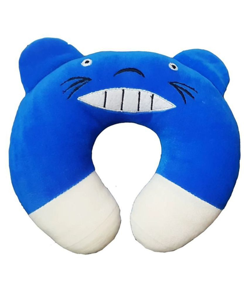 Brandonn Blue Polyester Fibre U shape Baby Pillow