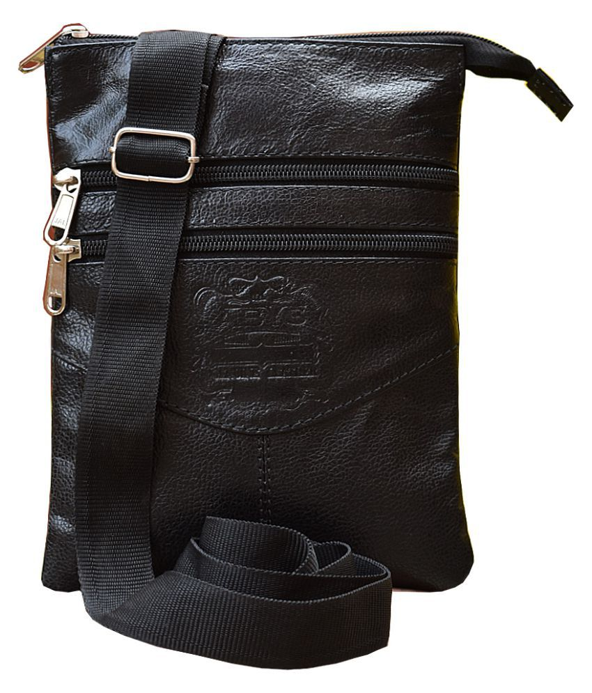 ABYS Black Leather College Bag