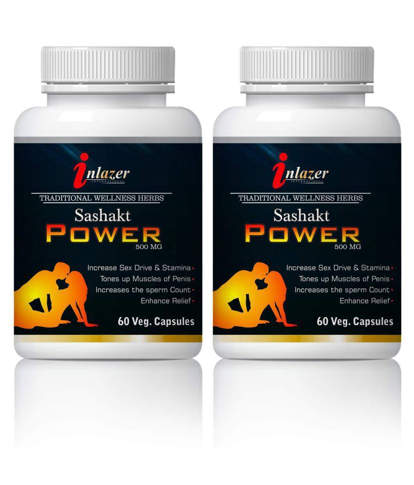 Inlazer Sashakt Power Sex Improvement Capsule 500 mg Pack Of 2