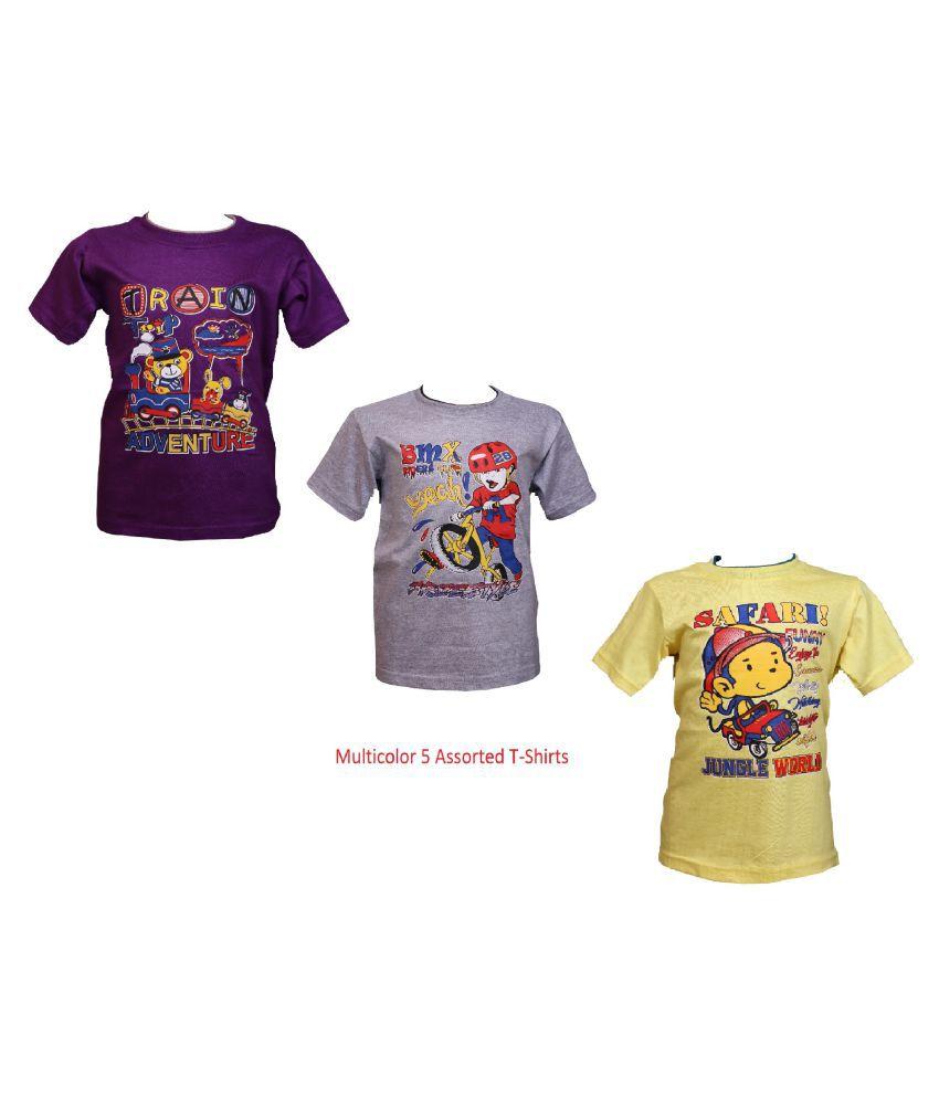 Pari   Prince Kids Round Neck T Shirts  Pack of 3
