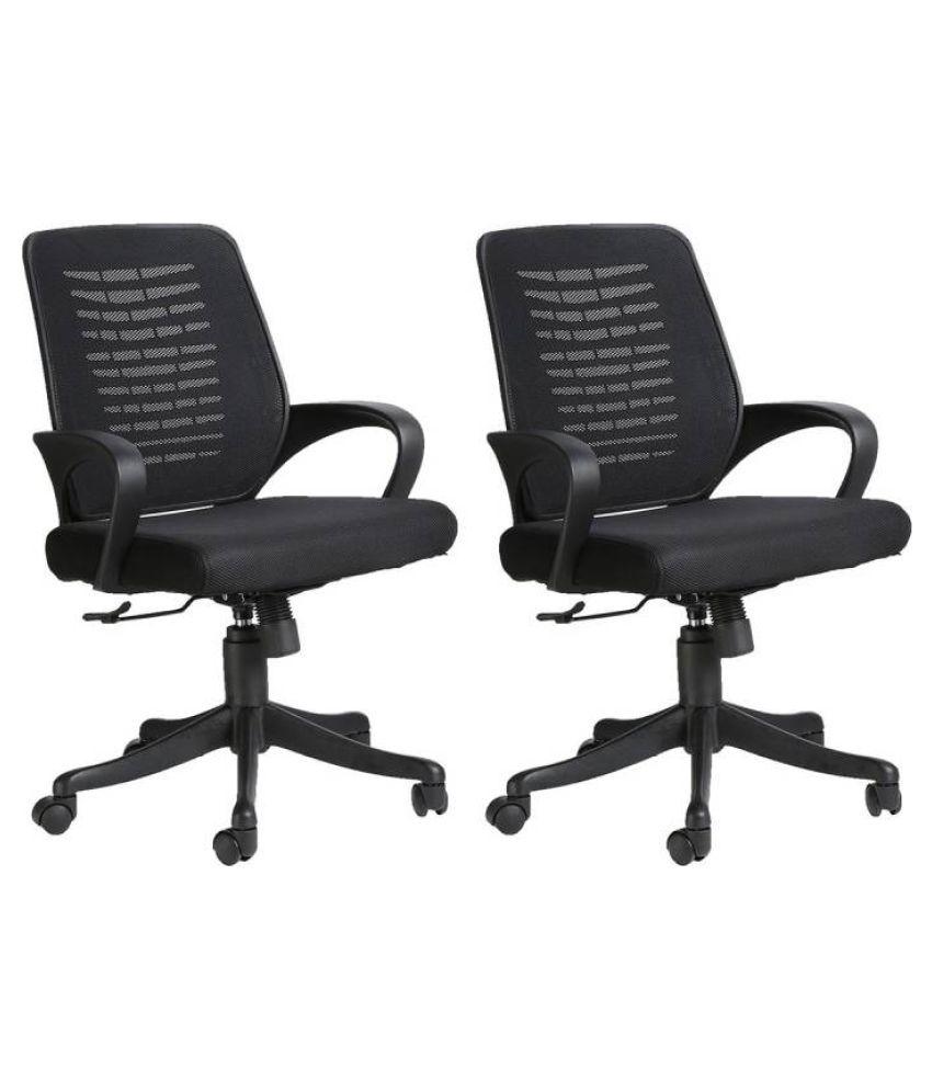 VJ Costila chair set of 2   Black
