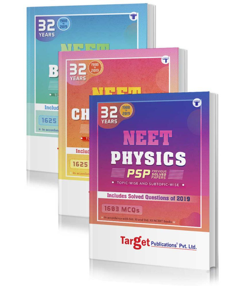 32 Years NEET, AIIMS and AIPMT PCB (Physics, Chemistry, Biology) Chapterwise Previous Year Solved Question Paper Books (PSP) | Topicwise MCQs with Solutions | 1988 to 2019 | Smart Tool to Crack NEET 2020