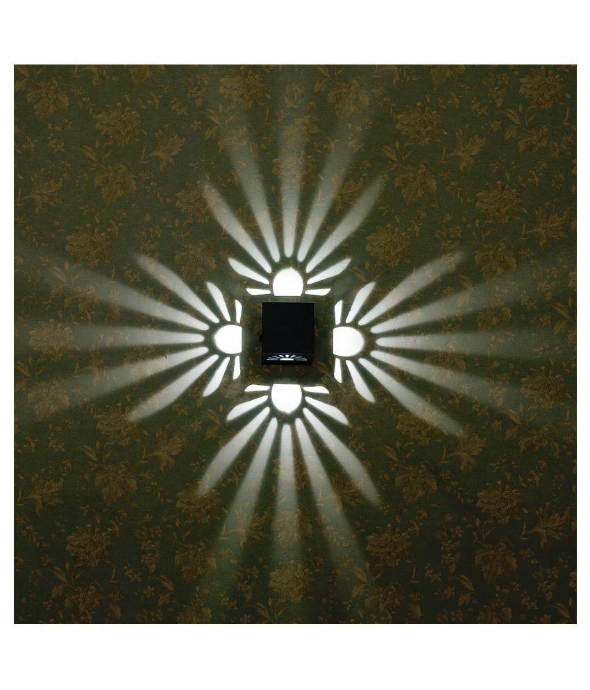 RKV Designs Wall Lamp - Petal Design Metal Wall Light Gray - Pack of 1