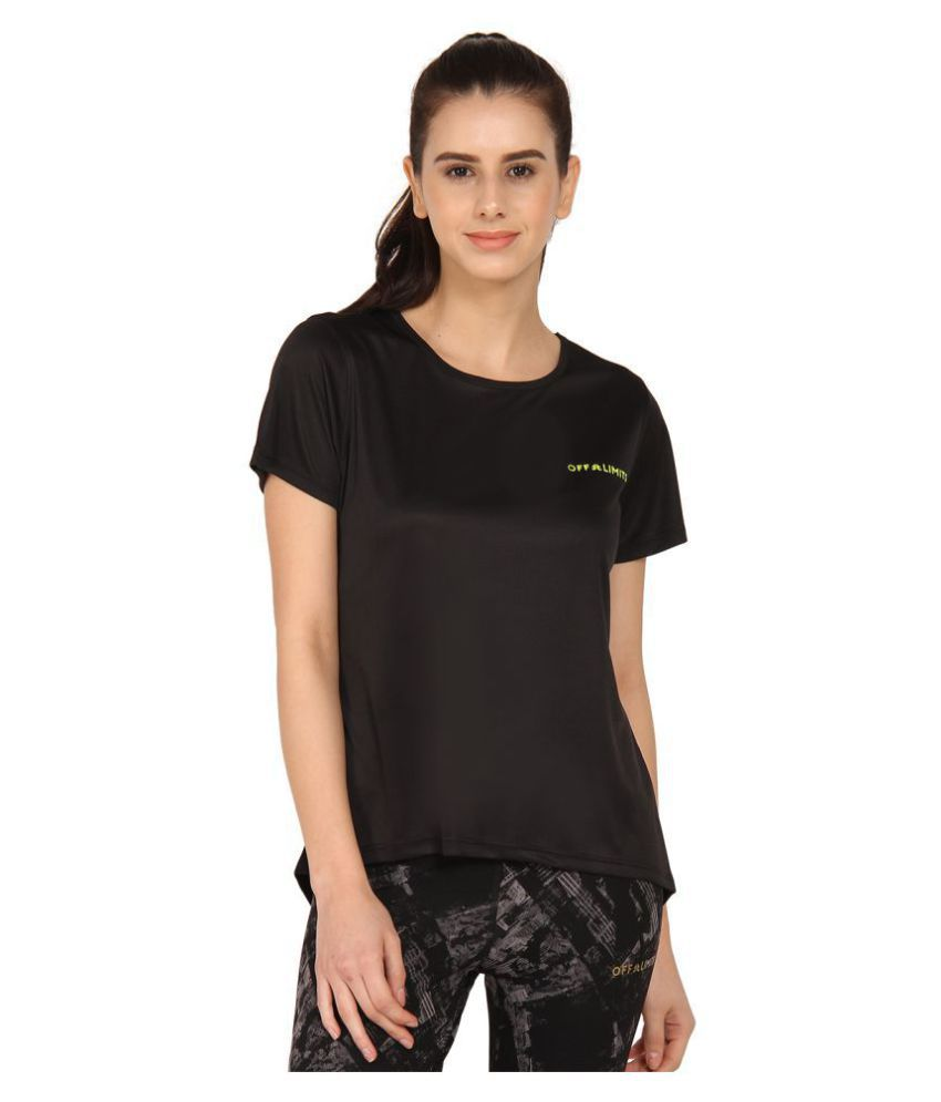 OFF LIMITS Polyester Black T-Shirts