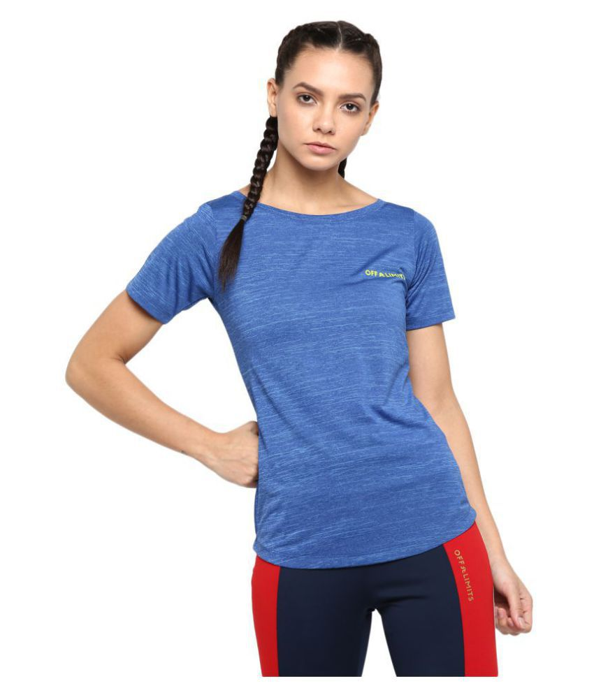 OFF LIMITS Polyester Blue T-Shirts