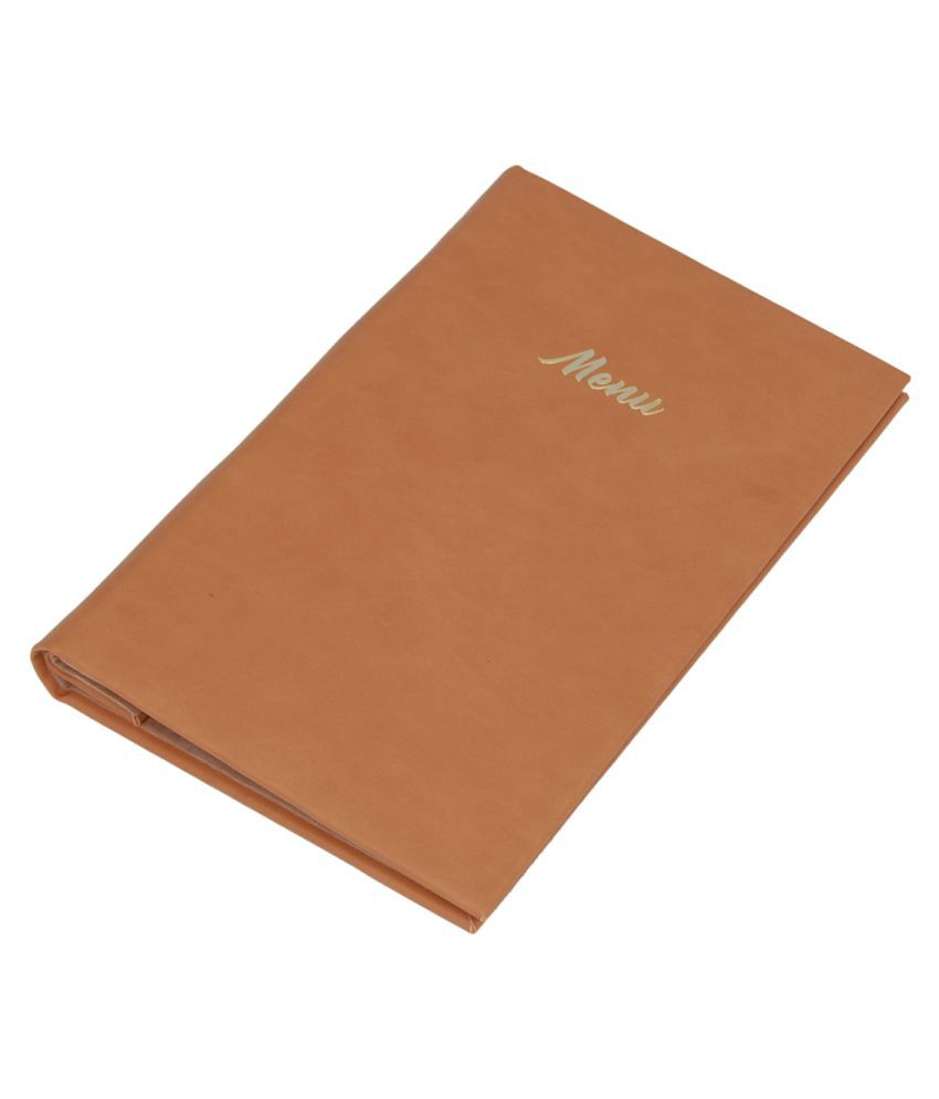 Borse Leatherette KCP210B Beige Menu Folder For Restraunts - Single(Pack Of 1)