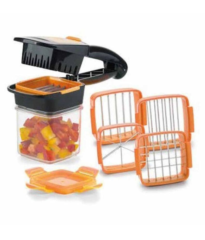 Hanuman Impex 4 BLADES 5 IN 1 VEGETABLE CUTTER SLICER VEGETABLE CHOPPER MULTI-FUNCTIONAL TOOL