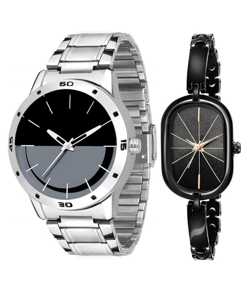 Selveen enteprise Black Dial Fancy Couple Watch For New Lovers DR092