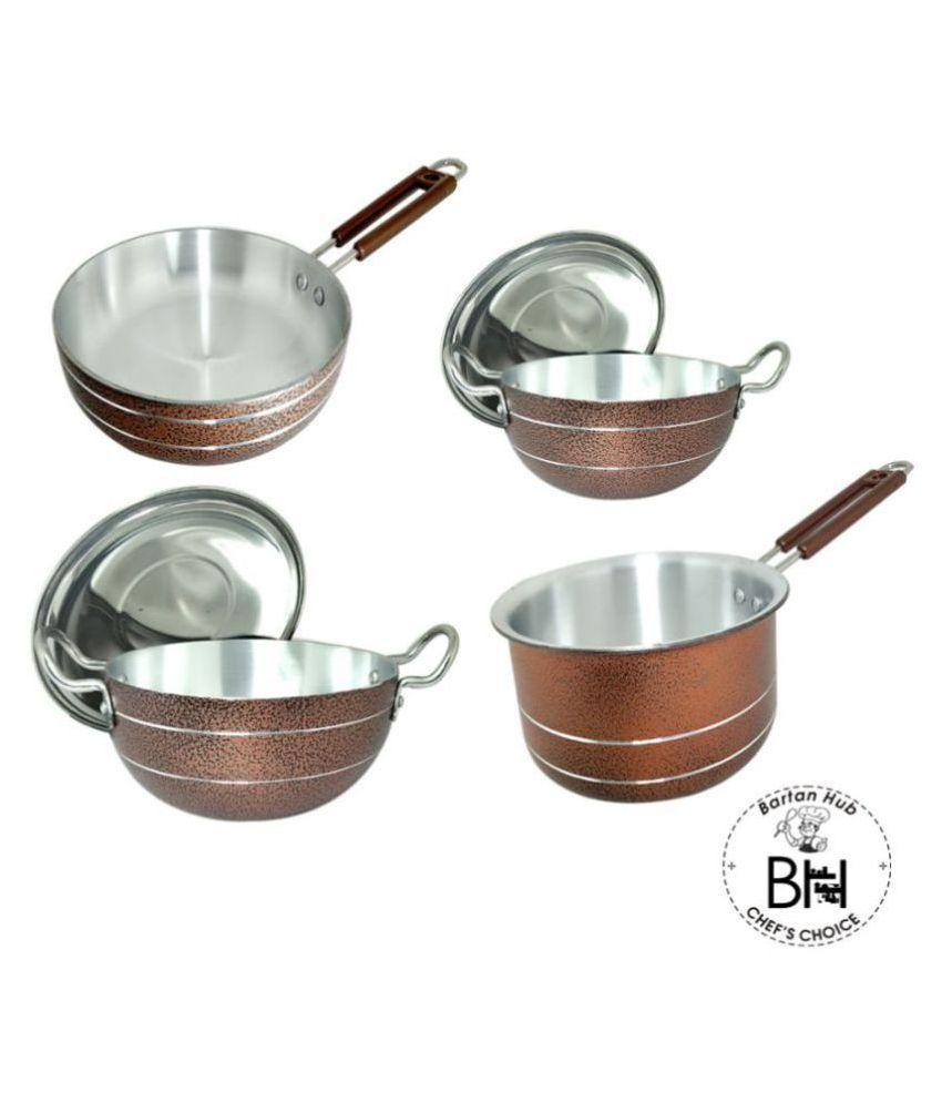 bartan hub Cookware set 4 Piece Cookware Set