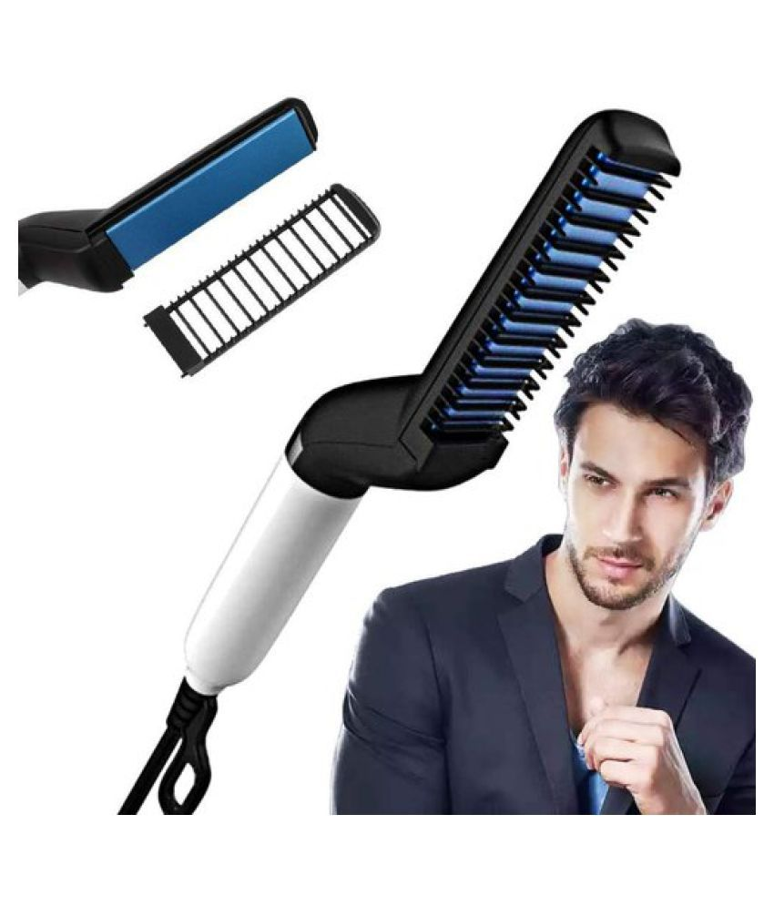 Yuvi Trendz Quick Beard Straightener Hair Styler Upgraded Electric Anti-Scald Modeling Comb