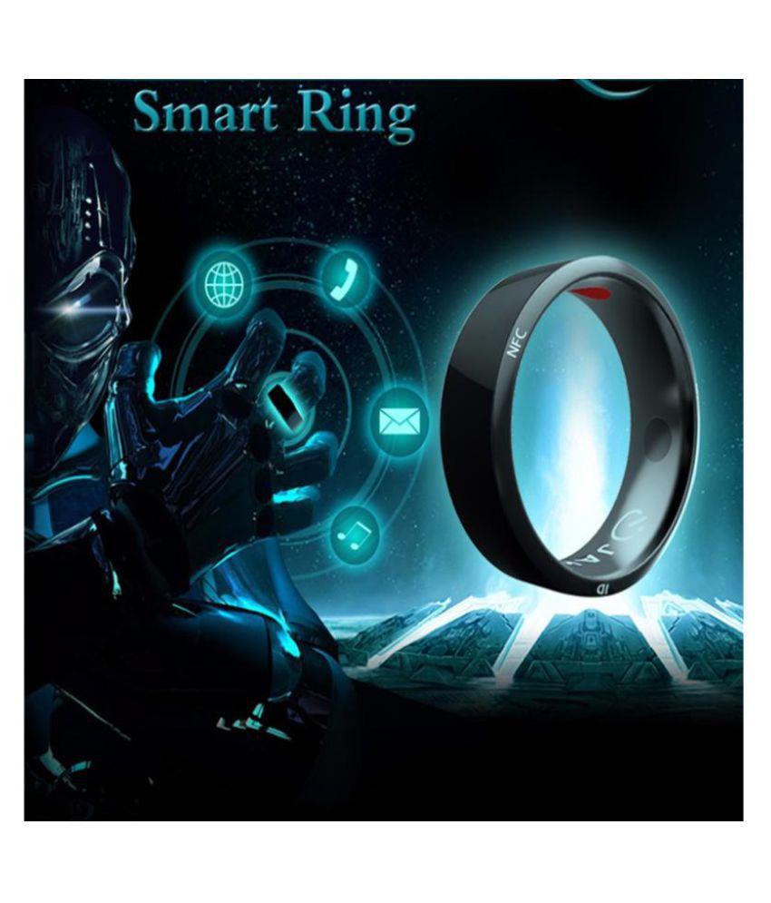 NFC Multifunctional Waterproof Intelligent Ring Smart Digital Ring Gift black