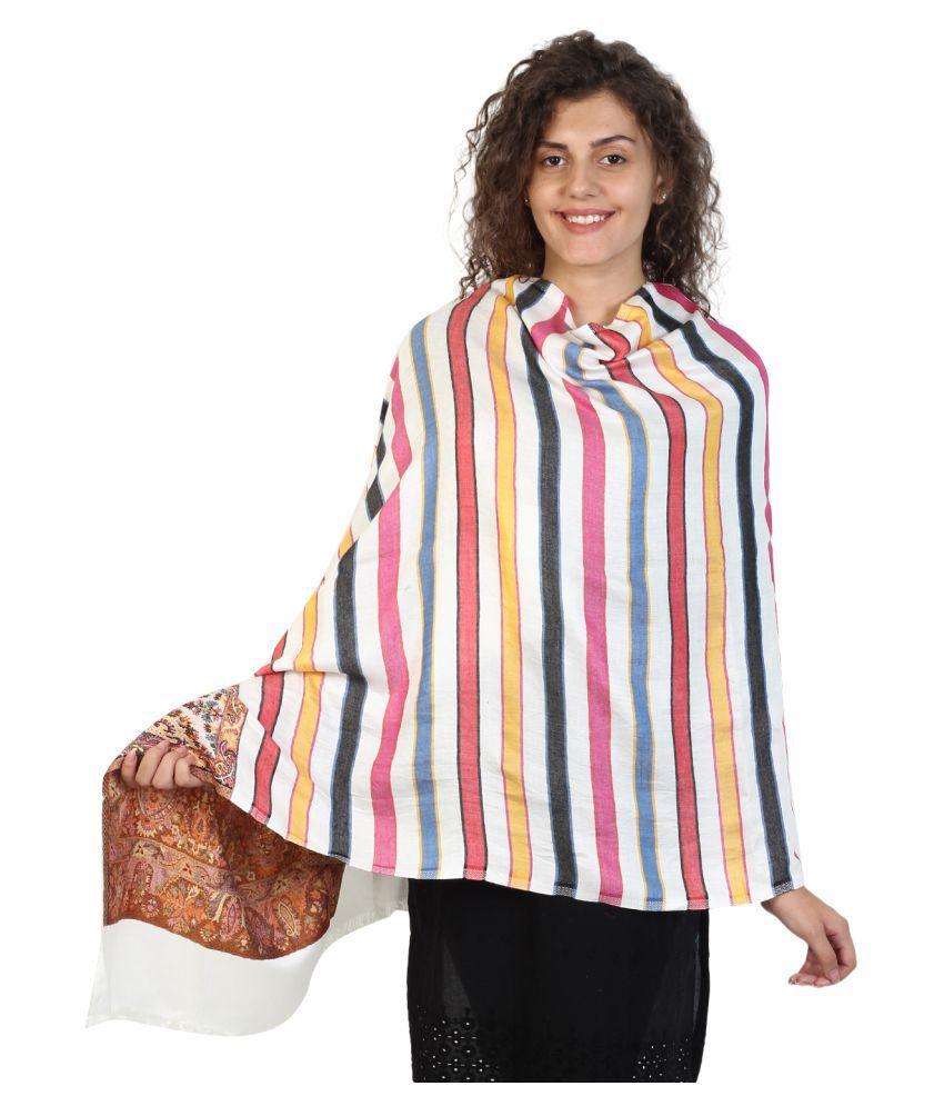 Anekaant White Stripes Shawl