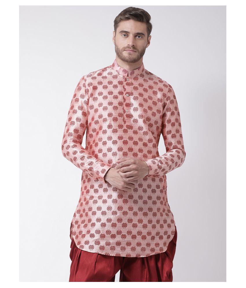 Deyann Pink Cotton Kurta Pyjama Set