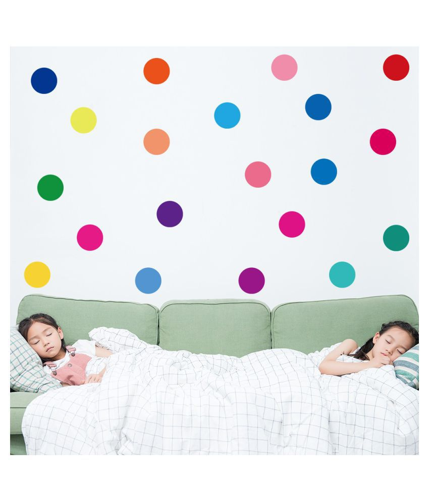 Colorful Round Dot Pattern Kids Wall Stickers Peel For Kids Nursery Room Decor Buy Colorful Round Dot Pattern Kids Wall Stickers Peel For Kids Nursery Room Decor Online At Best Prices