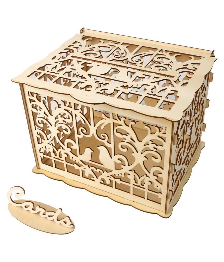 Wedding Card Box With Lock Diy Money Wooden Gift Boxes For Party