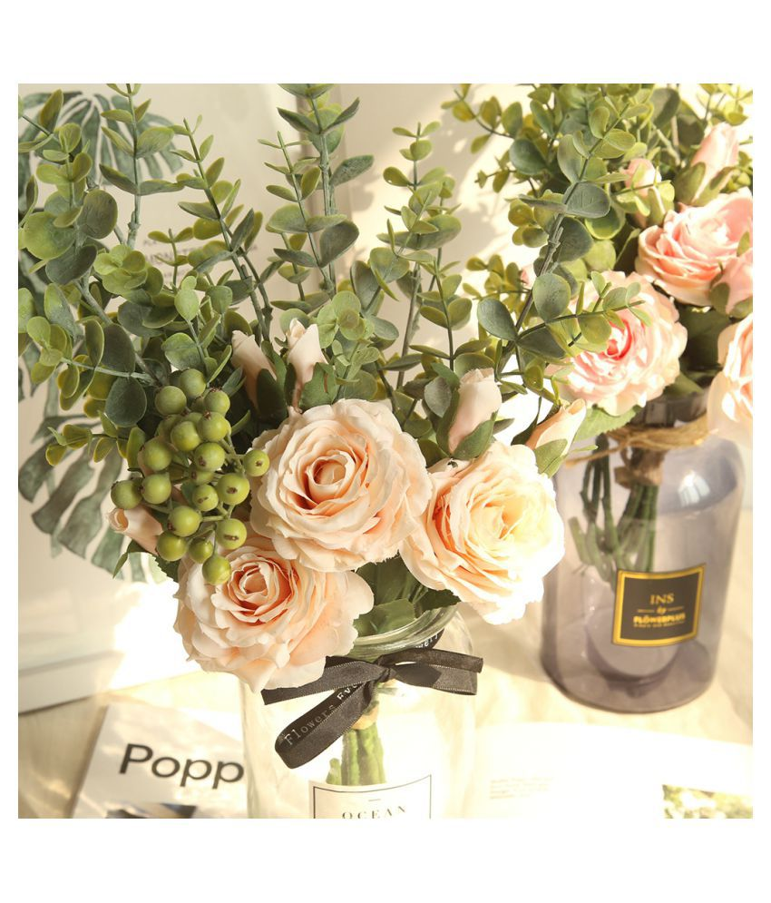 Range Rose Hydrangea Flowers Bouquet Bunch Home Wedding Party Gift Deco Buy Range Rose Hydrangea Flowers Bouquet Bunch Home Wedding Party Gift Deco At Best Price In India On Snapdeal