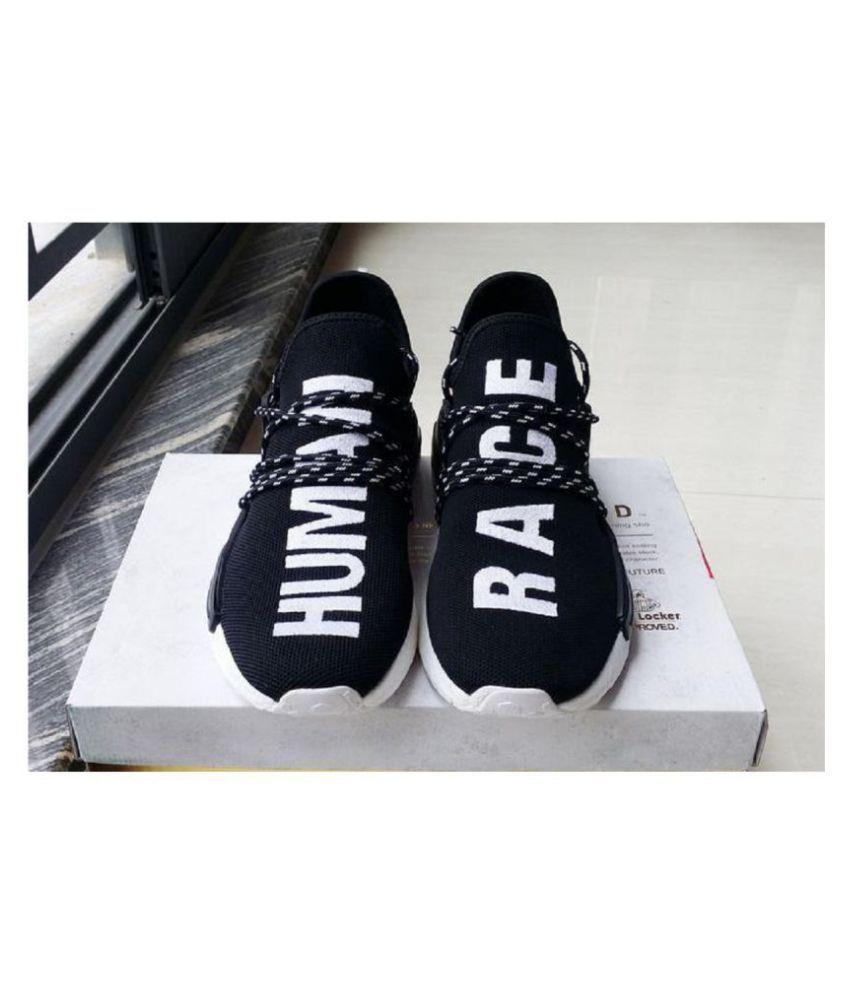 brand new 84338 a46fc Adidas Human Race Black Running Shoes
