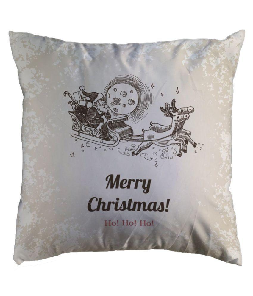 "18/""x18/"" Christmas Pillow Case Glitter Cotton Linen Sofa Throw Cushion Cover"