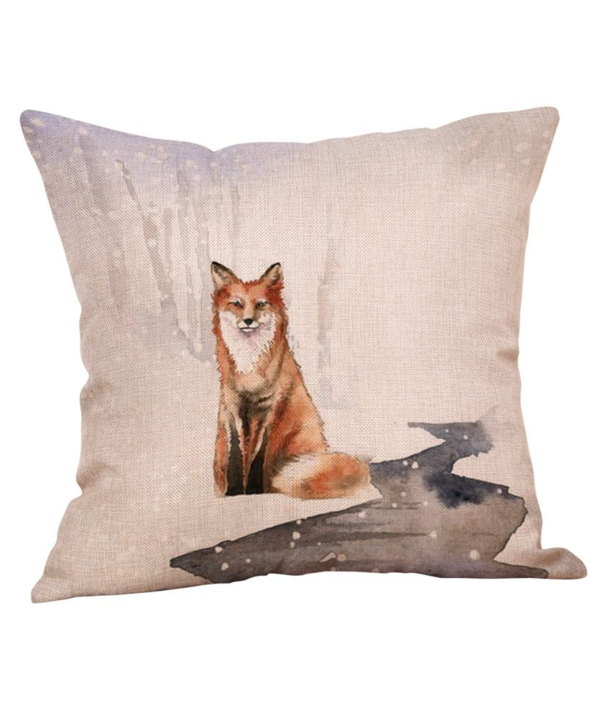 Animal Cute Pillow Case Cotton Linen Car Waist Throw Cushion Cover Home Decor