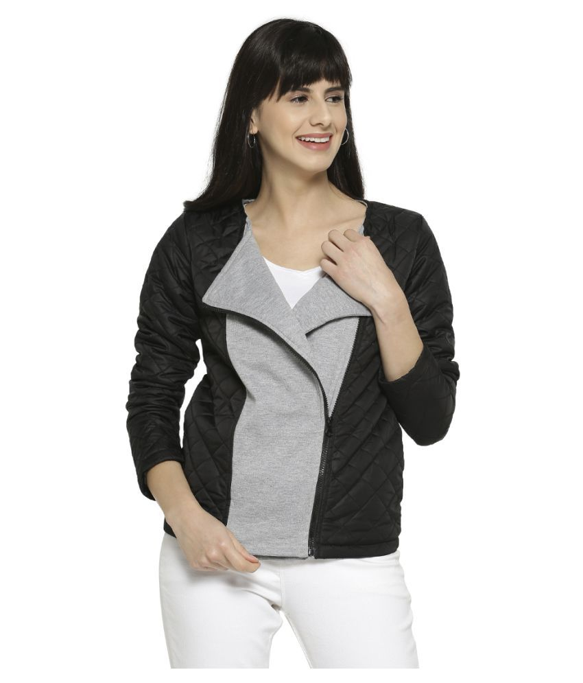 Campus Sutra Cotton Black Jackets