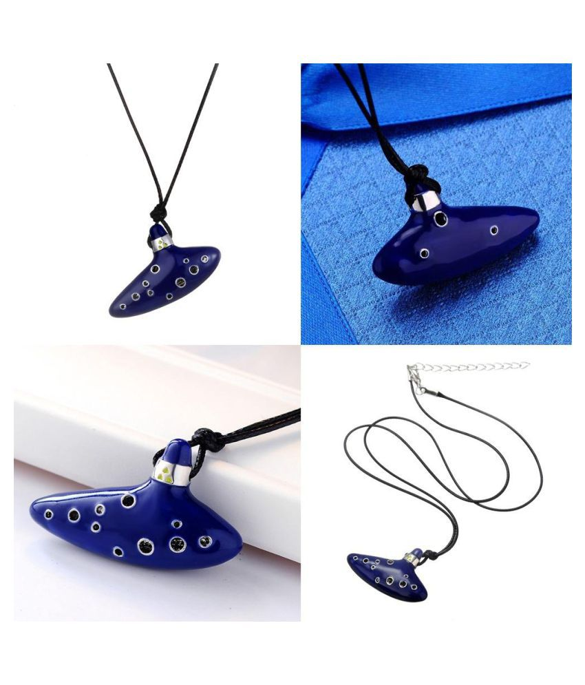 1pc Stainless Steel Symbol Hyrule Legend Of Zelda Pendant Air WhistleChain Necklace (Fashion Jewellery)
