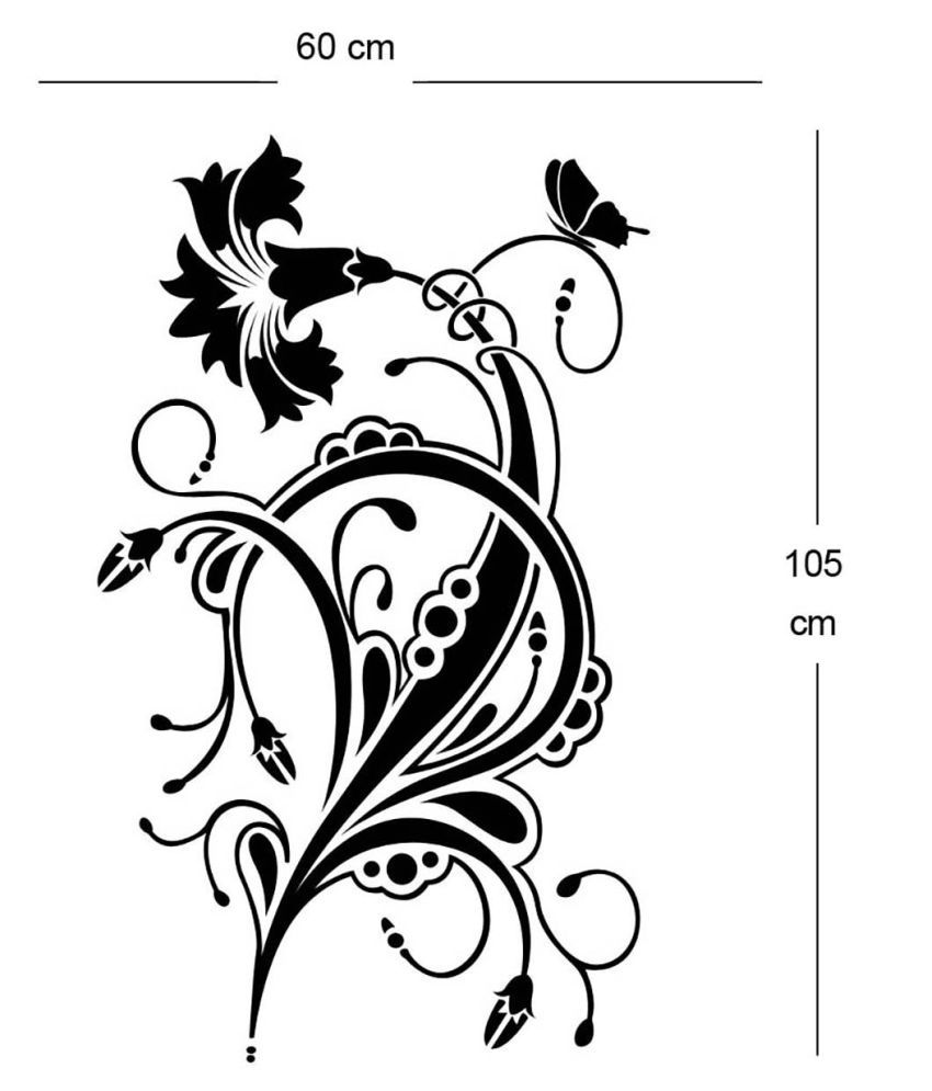 Allure Floral Design Nature Sticker ( 105 x 60 cms )