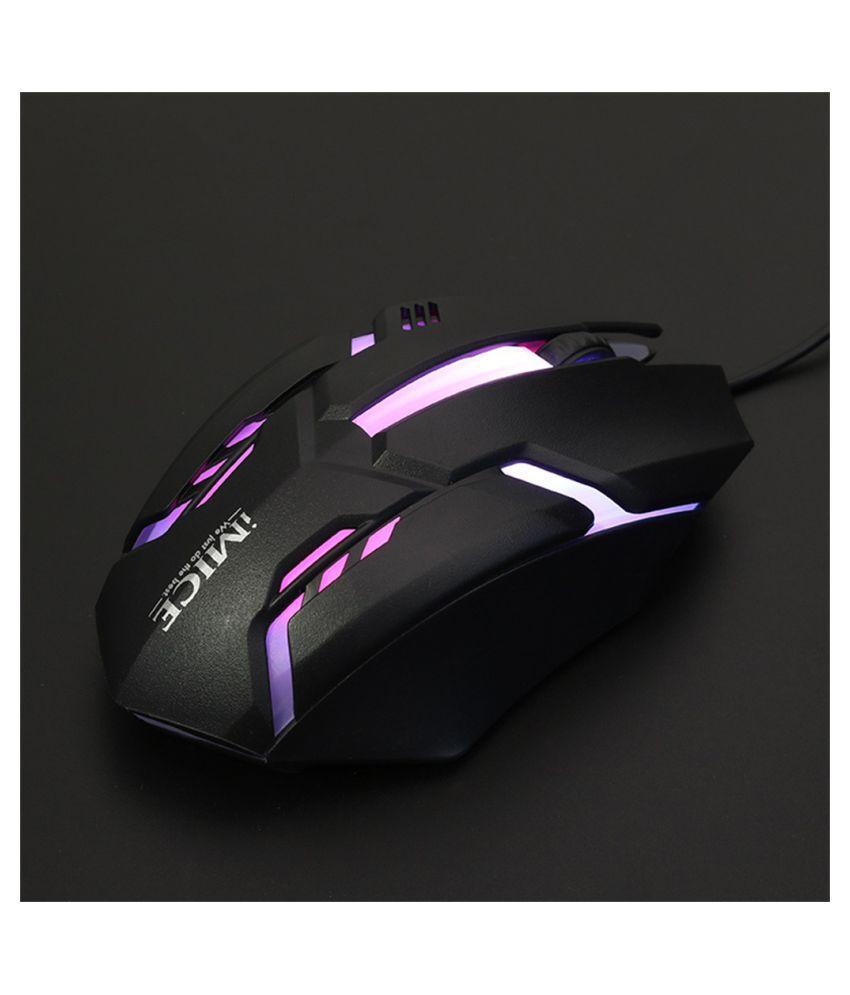 IMICE M6 LED Fiber Backlit Color USB Cable And Gaming Mouse For Desktop Laptops