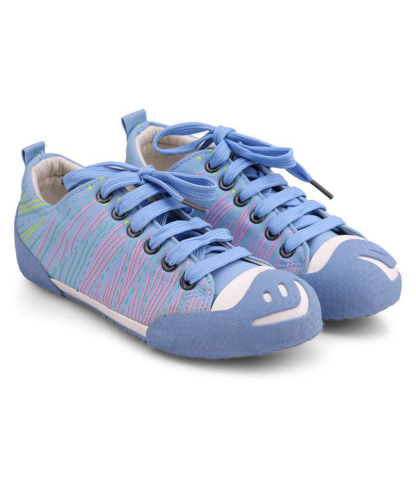 New Stylish Comfort Fashion Unisex Casual Shoes/Skate Shoes/Canvas Shoes/Lace-up Shoes for Big Kids /Girls/Boys.(Light Blue-35)