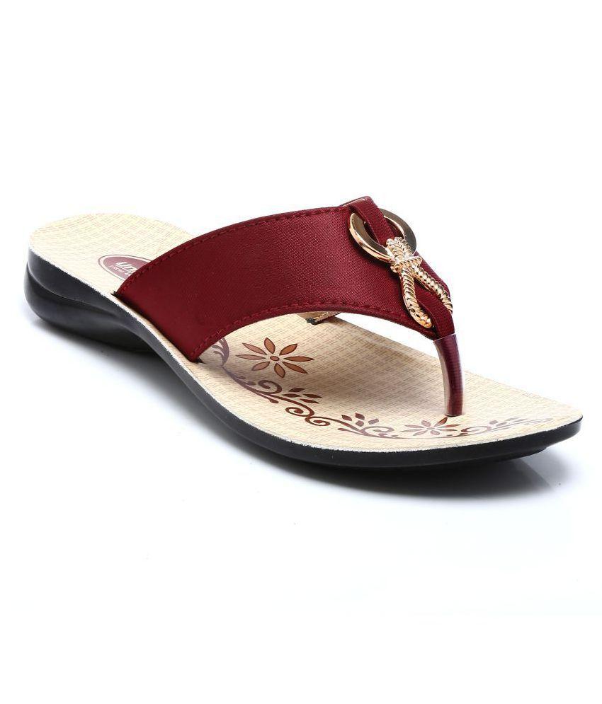 UniStar Maroon Slippers