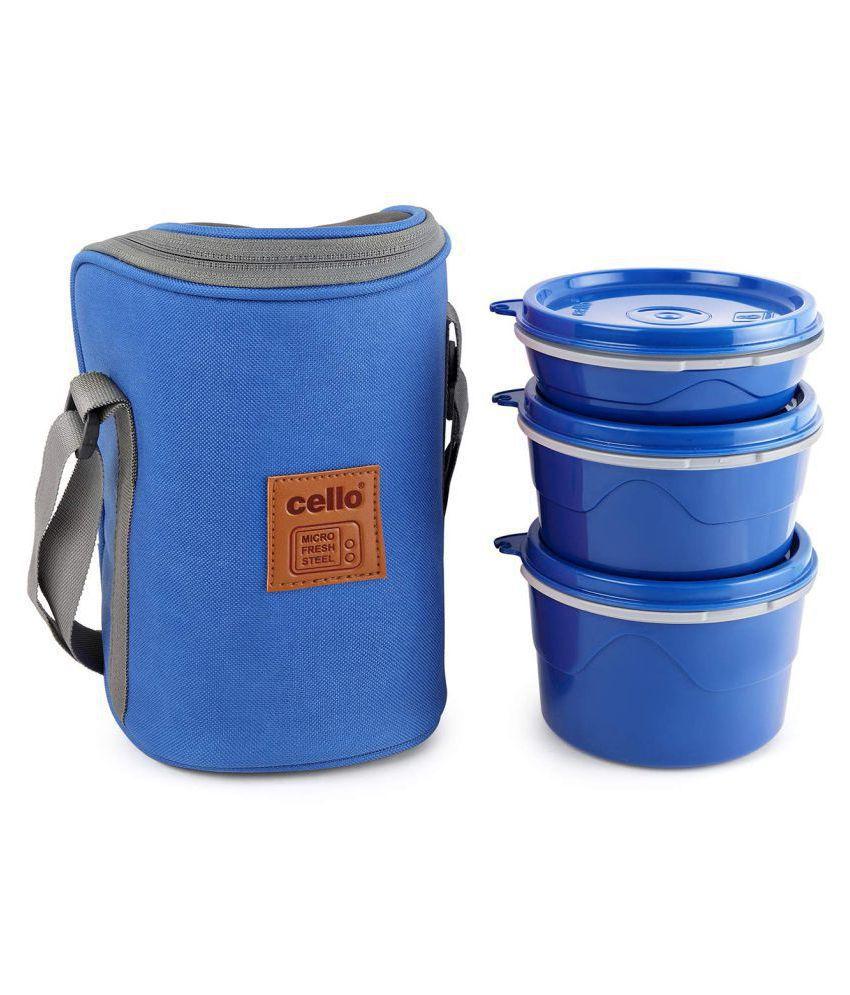 Cello Blue Polypropylene (PP) Lunch Box