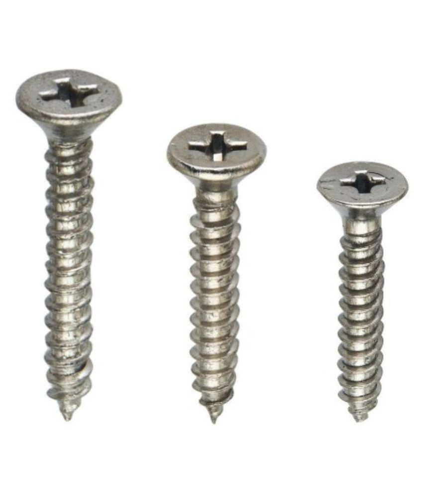 Spider Stainless Steel Self Taping CSK Slotted Phillips Screws (Size 8x32mm) (Pack of 150 Pcs Jar) (SSTP1C832)