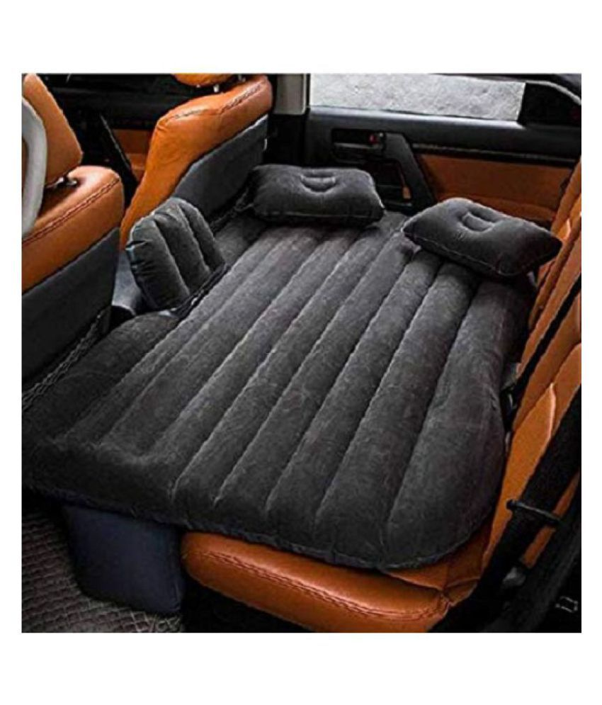 NANDKUVAR  Car Inflatable Bed, Self-drive Travel Inflatable Air Bed Car Air Mattress Back Seat Camping with Pump