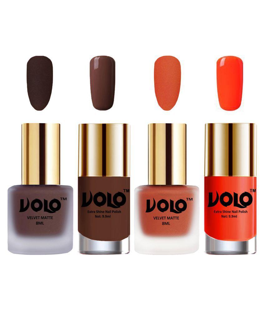 VOLO Extra Shine AND Dull Velvet Matte Nail Polish Peach