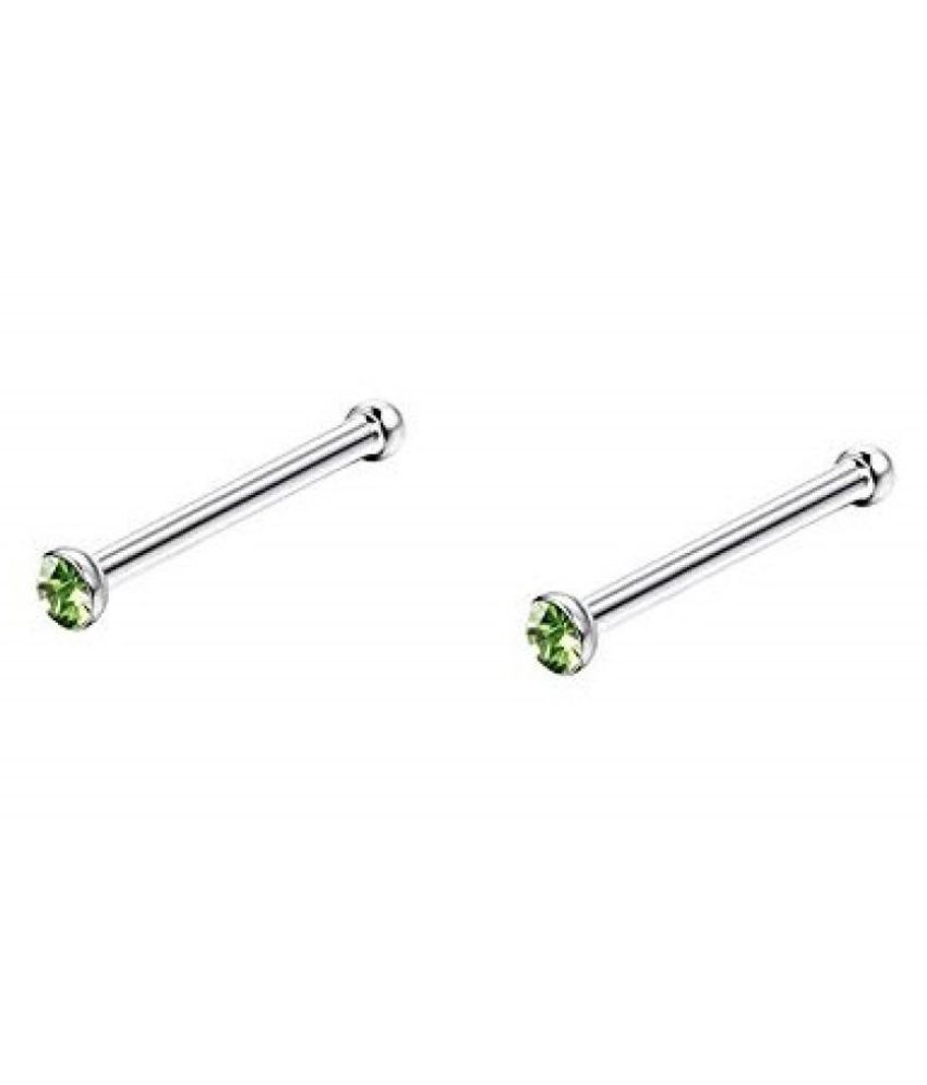 Nose Pin And Earring Parrot Green Color For Girl And Women Buy