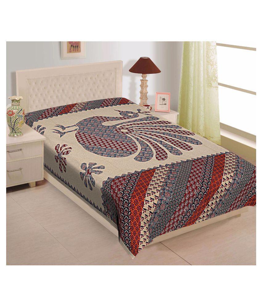 TexStylers Cotton Single Bedsheet