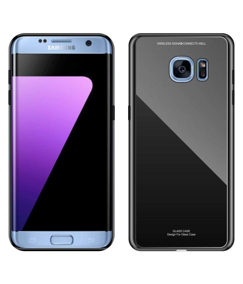 Samsung Galaxy S7 Edge Glass Cover NKARTA   Black