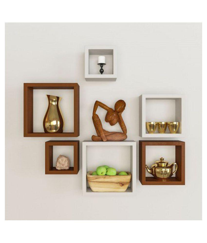 Designer Decorative Multicolor Useful Square Wall Shelf-WS11