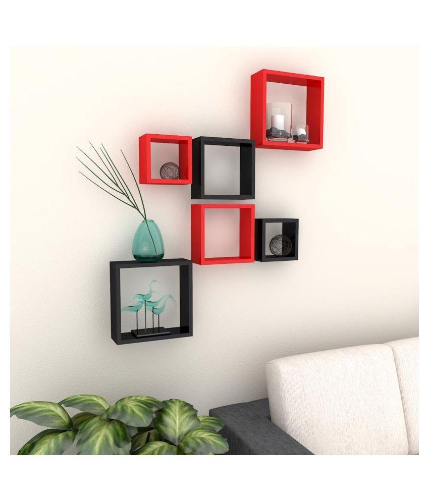 Designer Decorative Multicolor Useful Square Wall Shelf-WS26