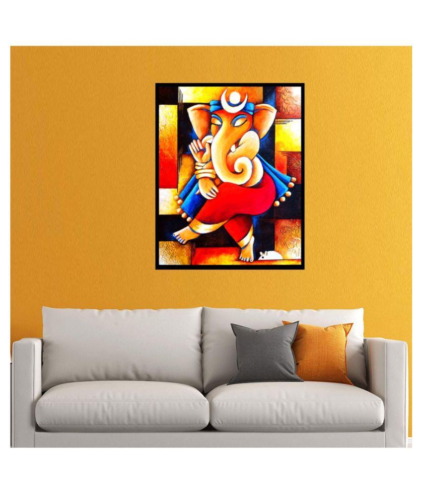 Abstract Ganesha Wall Art